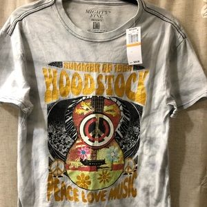 Woodstock T-shirt, Red Carpet Noir, Small, NEW
